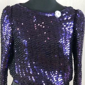 Tops - ❗️SALE❗️RARE VTG sequined blouse PRICE FIRM